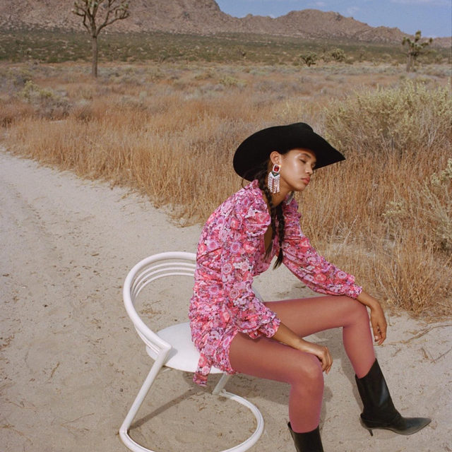 If we were stranded in the desert and could only bring three things, the Cheyenne Mini Dress would be one of them.