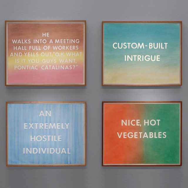 """#GagosianSpotlight: This month Ed Ruscha is the featured artist for Gagosian's Artist Spotlight series. To mark the occasion """"Ed Ruscha: Custom-Built Intrigue: Drawings 1974–1984"""" is available for online reading as part of the From the Library series. Published on the occasion of artist's 2017 exhibition at Gagosian, 980 Madison Avenue, New York, this catalogue features over seventy-five text drawings by Ruscha rendered in pastel, dry pigment, and various edible substances. An essay by Lisa Turvey examines the artist's use of humor in this body of work. Follow the link in our bio to read the catalogue. __________ #EdRuscha #Gagosian #FromTheLibrary @edruschaofficial  """"Ed Ruscha: Custom-Built Intrigue: Drawings 1974–1984"""" (New York: Gagosian, 2018)"""