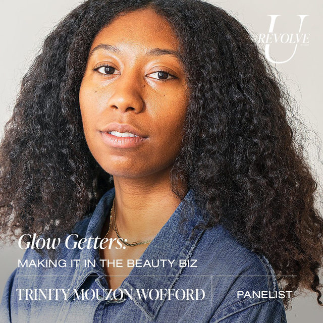 @trinitymouzon is the co-founder and CEO of @golde, a Brooklyn-born brand centered in making superfood-boosted essentials for health and beauty. She launched the brand at just 23 years old and has already landed a spot on the highly coveted @forbes 30 Under 30. Despite Wofford's growing business, the young entrepreneur is dedicated to helping the next generation of founders and is a columnist at @incmagazine, where she shares her perspective on early stage entrepreneurship.  tune in to the Glow Getters: Making It in the Beauty Biz panel on Wed 9.23 @ 3PM PST ❤️ LIVE on our YouTube - youtube.com/revolve  use our link in bio for more info, dates & times! ✨#REVOLVEU