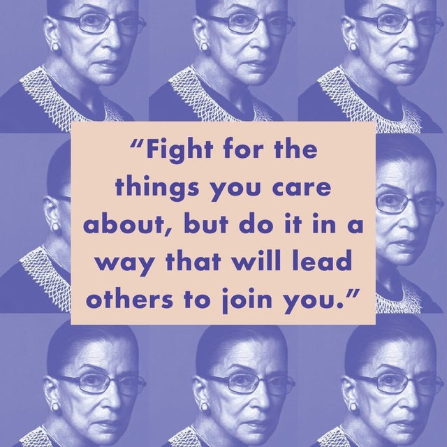 Supreme Court Justice Ruth Bader Ginsburg has died at age 87, leaving behind a legacy of patriotic dissent that will be honored for years to come. Read more at the link in bio. #regram: @shrillsociety