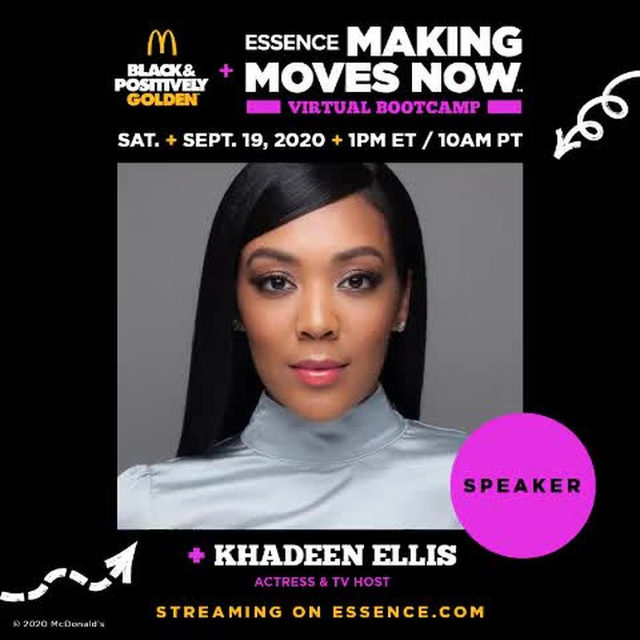 Make big moves for your business at the Making Moves Now Virtual Bootcamp presented by McDonald's, through its Black and Positively Golden movement today at 1pm ET. Join ESSENCE editor Marquita Harris and speakers Khadeen Ellis, Marissa G. Fisher, Shontay Lundy, and Jasmine Luv. Plus, don't miss your chance to win $10,000 and be featured in the Girls United Summit on October 10th when you enter the Making Moves Now Pitch Competition for Black women entrepreneurs between the ages of 18-25!