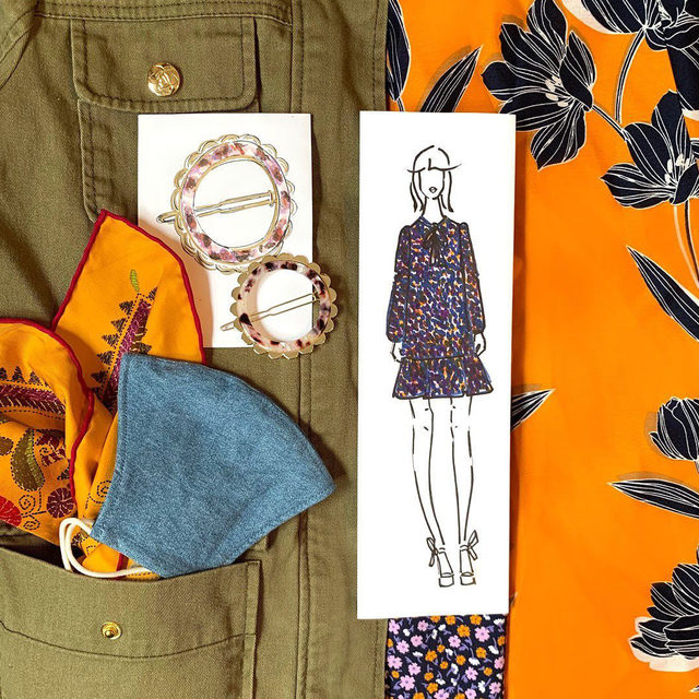 September sunshine 🌅 Harvest hues of warm marigold, lavender, olive and navy inspire our Fall collection.