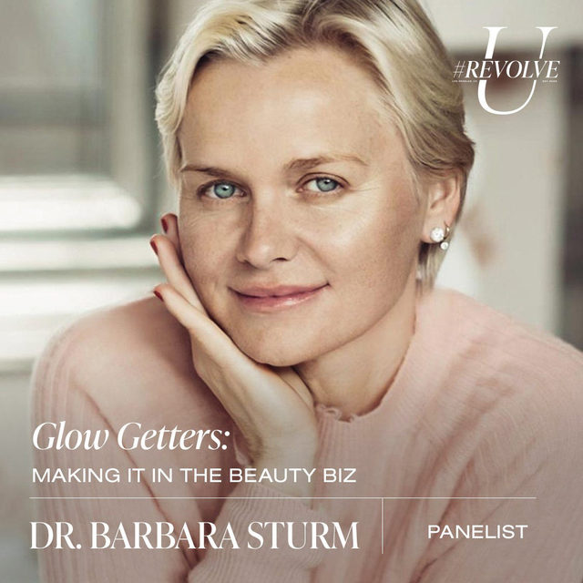 Facialist to the stars, drbarbarasturm is widely renowned for her anti-inflammatory philosophy and her non-surgical anti-aging skin treatments. The German aesthetics doctor began her medical career in orthopedics, developing cutting-edge treatments for inflammatory conditions. As she continued to innovate and revolutionize the field, she became one of the most sought-after beauty doctors in the world. Building on her platform of product performance and innovation, Dr. Sturm launched a full skincare range in 2014. Dr. Sturm created her Dr. Barbara Sturm Boutiques & Spas to not only deliver the famous #SturmGlow facials, but to also educate the public about her rigorous, ingredient science-approach and the anti-inflammatory lifestyle that she espouses.  tune in to the Glow Getters: Making It in the Beauty Biz panel on Wed 9.23 @ 3PM PST ❤️LIVE on our YouTube - youtube.com/revolve  use our link in bio for more info, dates & times! ✨#revolveu