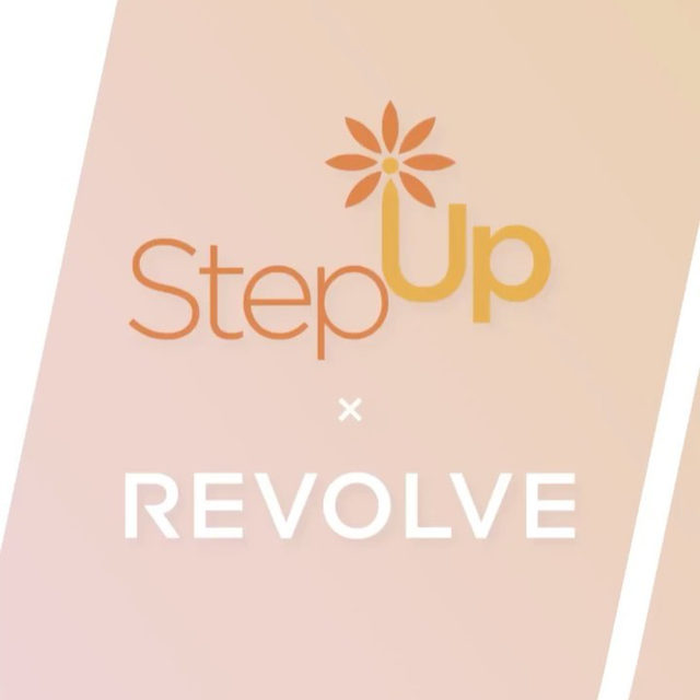 REVOLVE is proud to partner with nonprofit organization, @stepupwomensnetwork, as part of the #REVOLVEU mission to impact and inspire our customers through philanthropy and giving back to our community! 💫✨⭐️ swipe for more + head over to our link in bio