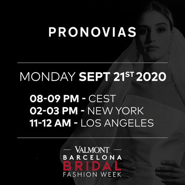YES WE DO participate at the new, digital Barcelona Bridal Fashion Week.  @vbbfw  Register now and be the first to discover our latest collections on the catwalk tomorrow! Link in bio.  https://bit.ly/3cezVrC  #PronoviasFashionShow