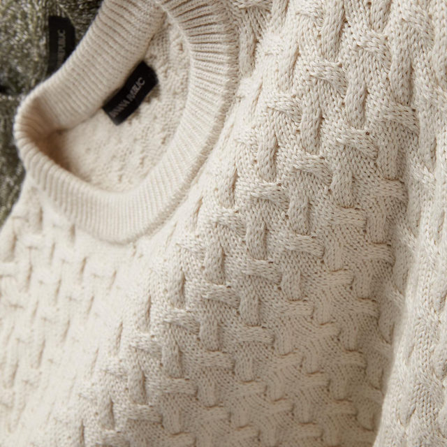 Get your cable-knit sweater game on -  weather's getting cooler.