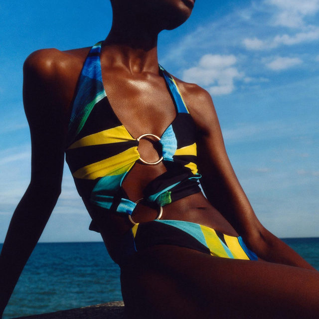 Going for @louisaballou bold. This bestselling swimsuit is back in stock so catch it while you can #brownsfashion #louisaballou #swimwear