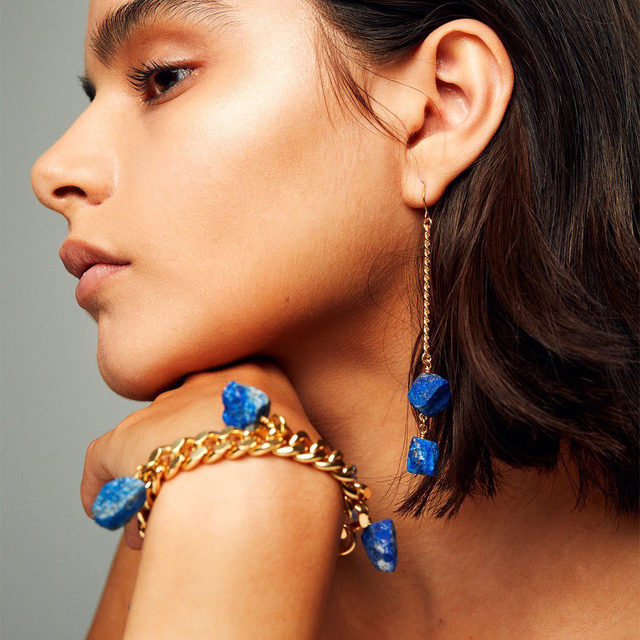 Lapis lazuli helps you realise your inner truth, bringing your love for @martalarssonofficial's precious jewels to the surface #brownsfashion #martalarsson