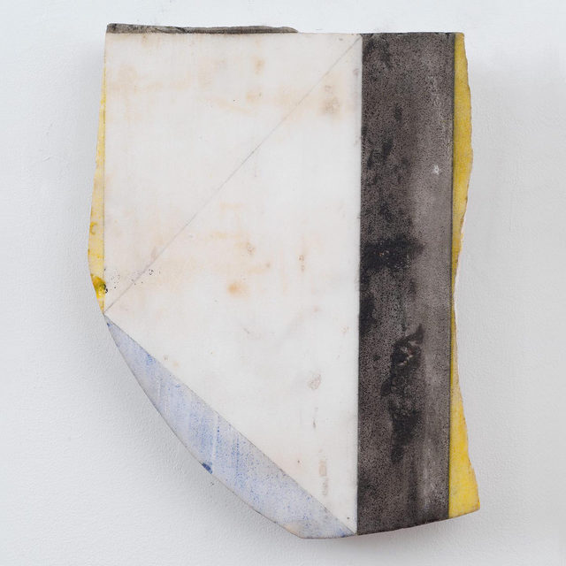 """#BriceMarden: """"Marbles and Drawings,"""" an exhibition of paintings and works on paper by Brice Marden, opens September 24 at Gagosian, Athens. This will be Marden's first solo exhibition in Greece in four decades and it will inaugurate the new location of the Athens gallery, an elegant stand-alone building in the center of the city.  In 1981, while summering on the island of Hydra, Marden began painting on small fragments of marble from local quarries, describing his strategy as """"taking an accident and turning it into a form."""" He partially tints the stone ground with thin, translucent layers of oil paint, producing serenely colored rectangles alongside bars of black and gray. These compositions work in harmony with each stone's inherent texture and veining pattern; some even preserve traces of ruled graphite markers. Follow the link in our bio to learn more about the exhibition. __________ #Gagosian (1) Brice Marden, """"Untitled (Black Stripe Marble),"""" 1987; (2) Brice Marden, """"Years 3,"""" 2011. Artwork © 2020 Brice"""