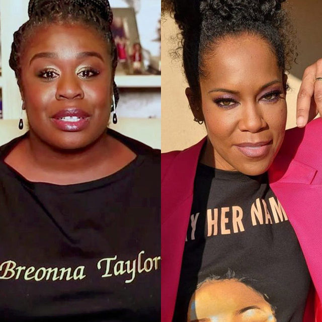 At the #Emmys, Regina King and Uzo Aduba's Breonna Taylor T-shirts gave both an opportunity to turn the rules of award fashion on their head and make a different kind of statement. A high proportion of the night's speeches urged viewers to vote, but the most powerful statements came when actors took a step back from glamour and let their shirts do the talking. Read more at the link in bio.