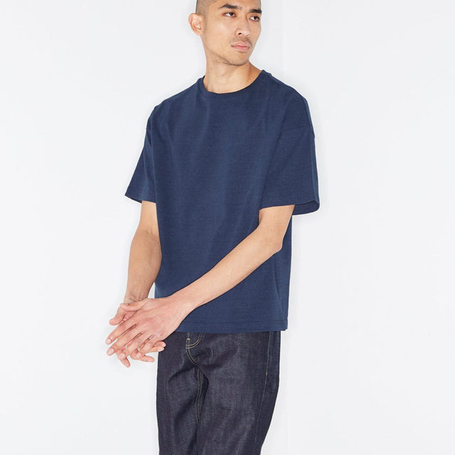 Relaxed. #Raey oversized T-shirt and raw selvedge jeans. Shop more everyday styles exclusively at @MATCHES_MAN.