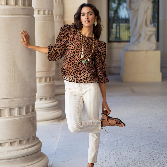 Another day, another chance to make a bold blouse statement 🐆 Photo of @junybreeze by @moheli (link in profile to shop)