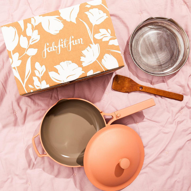 """🍴GIVEAWAY 🍴We've teamed up with our friends at @ourplace to give away one of their cult-favorite, best-selling Always Pans and a #FabFitFun Box! Enter to win by:  1) Following @fabfitfun and @ourplace 2) Liking this photo 3) Tagging 2 friends 4) Using #giveaway and #FabFitFun in the comments  Congrats to our winner @chellydi 🏆 Stay tuned for more chances to win!  #giveaway #win #free #fabfitfunfreefriday  You may enter by (1) """"liking"""" FabFitFun's September 24, 2020, Instagram post announcing the Giveaway (the """"Our Place Giveaway""""), (2) tagging two friends and using the hashtag """"#giveaway"""" and """"FabFitFun"""" using the """"Add a comment"""" feature of the FabFitFun's Our Place Giveaway Post on Instagram, and (3) by following @fabfitfun and @ourplace on Instagram. All entries must occur between 7:00am Pacific Time on September 24, 2020, to 11:59pm Pacific Time on September 28, 2020, (the """"Entry Period""""). See official rules with link in bio."""