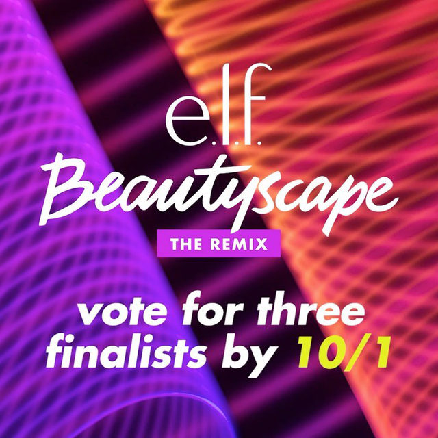THE SEMI-FINAL #BeautyscapeRemixContest 9 ARE HERE - & it's your turn to vote! ✨   Help us pick the THREE Beautyscape semi-finalists who will have the chance to collab on e.l.f.'s next big beauty collection with our 3 @umgbgram music artists and @girlsinc!  Click on the #linkinbio to vote 💿🎶