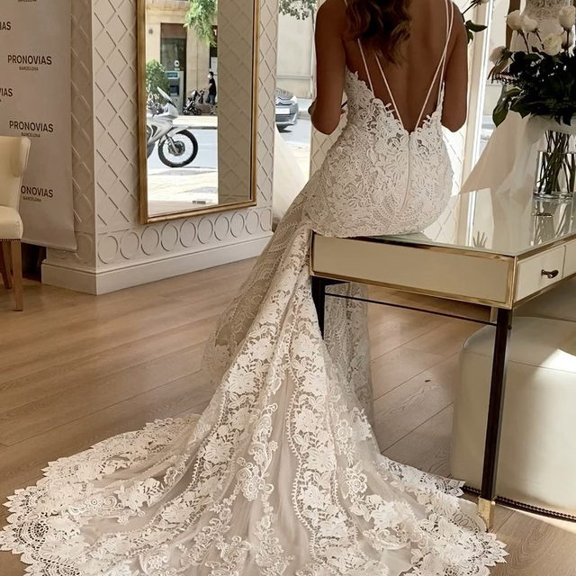 """Brides-to-be have a special kind of magic. Is the emotion of finding the perfect dress, the happiness and smiles on their faces that makes me feel blessed of having the opportunity of dressing their dreams."" - Alessandra Rinaudo, Pronovias Chief Artistic Officer  Ready to find your dream dress? Book now your appointment on the link in bio. #Pronovias  Dress: Floriana  #Pronovias"
