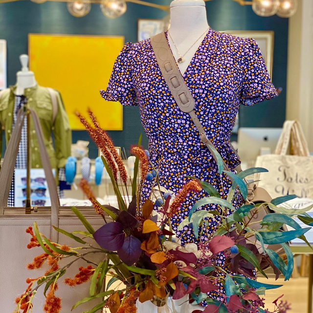 Fall has arrived in our #DraperJamesNashville store 💜🧡