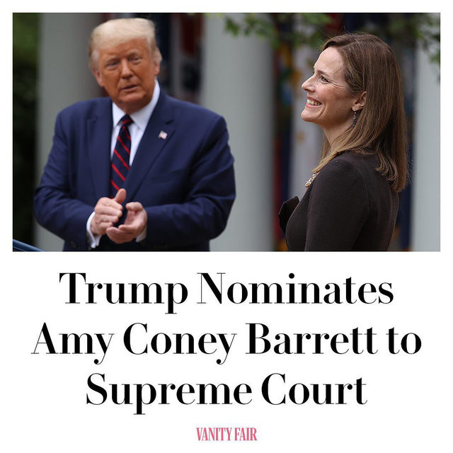 "President Trump has named Amy Coney Barrett as his Supreme Court nominee, setting off a heated confirmation battle to replace Ruth Bader Ginsburg's vacant seat just 38 days before the election. The selection is the latest development in the GOP's transparent scramble to tilt the nation's highest court further to the right with a nominee who, if confirmed, would form a 6-3 conservative majority, potentially impacting a generation of rulings on issues ranging from Obamacare to immigration to abortion.   Barrett, a federal appellate judge and Notre Dame law professor who once clerked for late right-wing Justice Antonin Scalia, was the leading contender on Trump's shortlist of picks and is the only nominee known to have met with the president in person. ""She was the plan all along,"" a former senior administration official told CNN. Read the full story at the link in bio."