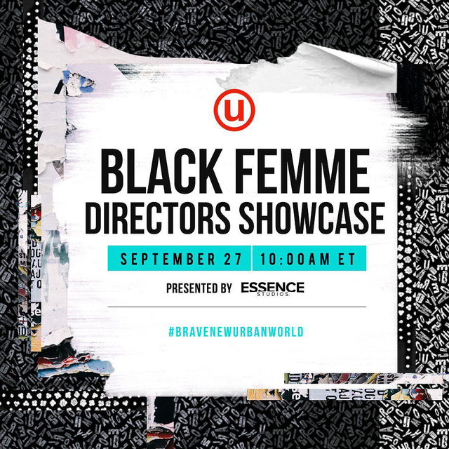 Essence Studios presents Black Femme Directors Showcase streaming at 10 am as apart of urbanworldff. Tap the bio link for tickets! #BraveNewUrbanworld