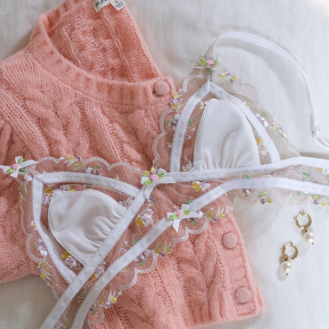 Wasn't looking for love until I found you // The Billie Cropped Cardigan and Mabel Triangle Bralette #FLLforVS