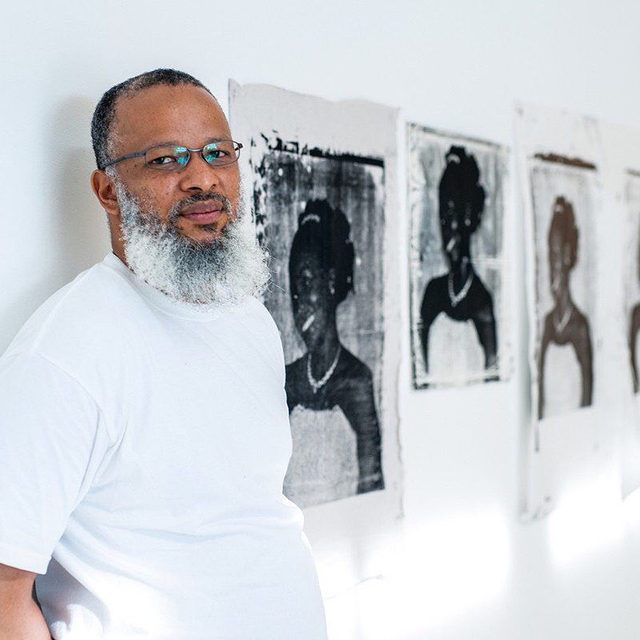 """#MelekoMokgosi: Meleko Mokgosi has been selected to receive the 2020 Soros Arts Fellowship, alongside nine other cultural practitioners working at the intersection of migration, public space, and the arts. He will receive a stipend to realize an ambitious project titled Pan-African Pulp over the next eighteen months. Through publications, murals, posters, and a digital archive, Mokgosi will explore histories of Pan-Africanism in southern African pulp photo-novels of the 1960s and 1970s, with the aim of reviving ideas of Pan-Africanism and Black consciousness to build transcontinental alliances between groups fighting systems of oppression today.  """"Meleko Mokgosi: Democratic Intuition"""" opens tomorrow at Gagosian, Britannia Street, London. Follow the link in our bio to learn more. __________ #Gagosian @opensocietyfoundations"""