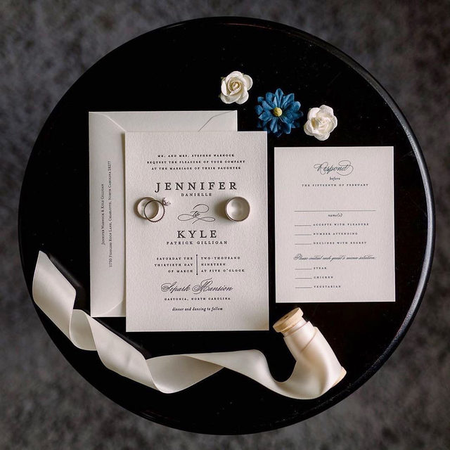 """An invitation flat lay that is equally simple and sweet!  __ """"Classic Composition"""" wedding invitation by @ohraufman Photo: @chris_kruger_photographer . . . #weddinginvites #savethedate #weddinginvitation #weddingflatlay #flatlay #invitationdesign #modernwedding #engaged #weddingideas #weddinginspiration #weddingdetails #weddingphotography #weddingplanning #trendybride #weddingstationary #luxurywedding"""