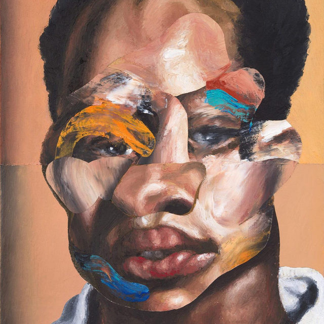 """#NathanielMaryQuinn: """"I have always been interested in the ways that different groups of people view one another: how they internalize their own identities, how others perceive them, and how their own self-perceptions are physically expressed. Working with portraiture during this tumultuous and historic time, as we reckon with racial discrimination and violence in the midst of a global pandemic, requires me to consider these perceptions in an entirely new way."""" —Nathaniel Mary Quinn  A presentation of new works by Nathaniel Mary Quinn is now open today at Gagosian, Davies Street, London. On view is a selection of paintings, as well as """"Three Months In"""" (2020), the artist's largest work on paper to date. With its wide plate glass window, this storefront exhibition space will act as the artist's """"solo booth"""" for Frieze London, while the """"Gagosian Quarterly"""" online will present a time-lapse video documenting him making one of the exhibited paintings earlier this year, with added commentary from the artist about"""