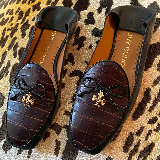 The Tory Charm Loafer, as comfortable as a slipper. #ToryBurchFW20 #ToryBurchShoes #ToryBurch