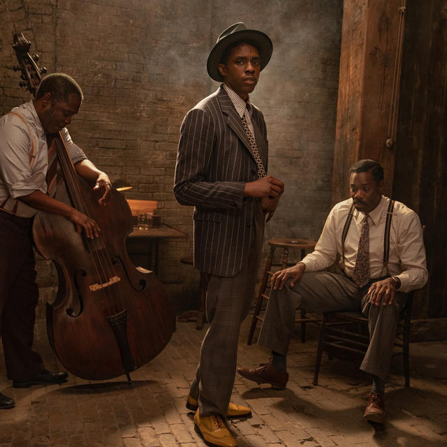 Netflix has released its first look images of Chadwick Boseman in his final role in Ma Rainey's Black Bottom, which stars Viola Davis as the legendary Blues queen Ma Rainey (📷 David Lee/Netflix) Tap link for more info on the film, premiering December 18.