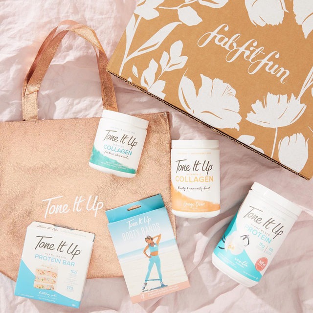 """💖 GIVEAWAY 💖 HIIT the ground running on your fitness routine with this bundle from @toneitup! Two winners from @fabfitfun's account and two from @toneitup's account will receive some of their must-have items along with a #FabFitFun Box. Enter to win by:   1) Following @fabfitfun and @toneitup  2) Liking this photo 3) Tagging 2 friends  4) Using #giveaway and #FabFitFun in the comments  Congrats to our winners @jaciaubin & @mrshunterandco 🏆 Stay tuned for more chances to win!  #giveaway #win #free #fabfitfunfreefriday  You may enter by (1) """"liking"""" FabFitFun's October 2, 2020, Instagram post announcing the Giveaway (the """"Tone It Up Giveaway""""), (2) tagging two friends and using the hashtag """"#giveaway"""" and """"FabFitFun"""" using the """"Add a comment"""" feature of the FabFitFun's Tone It Up Giveaway Post on Instagram, and (3) by following @fabfitfun and @toneitup on Instagram. All entries must occur between 7:00am Pacific Time on October 2, 2020, to 11:59pm Pacific Time on October 6, 2020, (the """"Entry Period""""). See offici"""