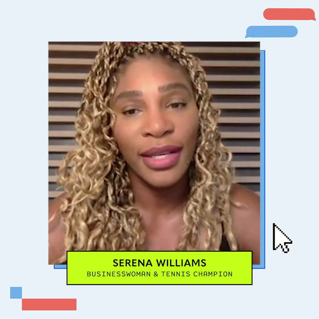 @serenawilliams took the virtual stage for a fireside chat with our founder & CEO, @marrc, to dicuss what it means to be an entrepreneur in 2020. Her biggest piece of advice for you?   Find your resilience and stay creative! ⚡️
