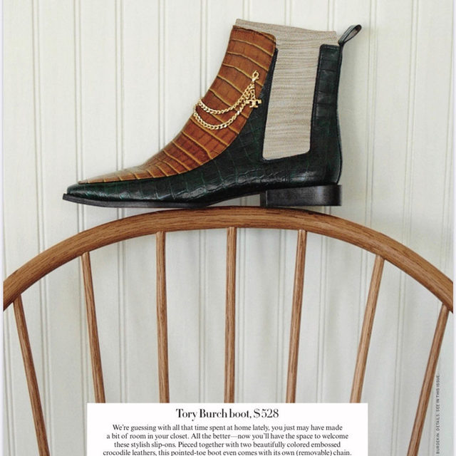 Thank you @voguemagazine for featuring our boot in Vogue's Last Look. #ToryEditorials #ToryBurch