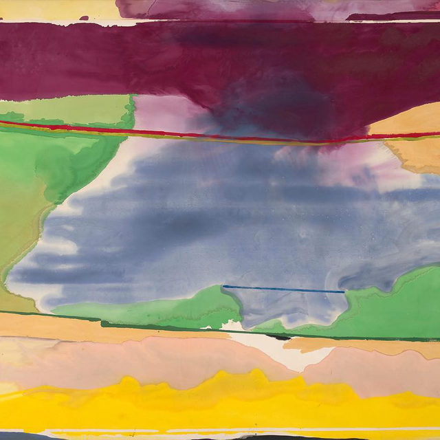 """Today at 7pm EDT, join Elizabeth Smith, executive director of the Helen Frankenthaler Foundation, and Natalie Dupêcher, assistant curator of modern art at the Menil Collection, for a conversation about Helen Frankenthaler's pivotal role in postwar American art. The pair will consider how the artist pioneered a highly original form of abstraction by looking at a selection of her works, including the monumental painting """"Hybrid Vigor"""" (1973), which is currently on view at the Menil Collection. Follow the link in our bio to watch the live conversation. __________ #HelenFrankenthaler #Gagosian @helenfrankenthalerfoundation @menilcollection Helen Frankenthaler, """"Hybrid Vigor,"""" 1973, The Menil Collection, Houston, Courtesy of Friends of the Menil Collection © 2020 Helen Frankenthaler Foundation, Inc./Artists Rights Society (ARS), New York. Photo: Paul Hester"""