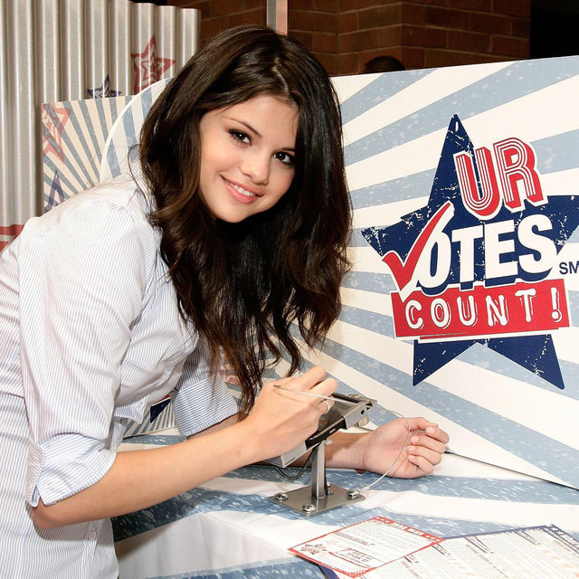 "Selena Gomez and Stacey Abrams want us to vote! 🗳 ""The ability to change the future of this nation lies in our hands,"" says Selena Gomez. Link in bio to read how they are teaming up on the coolest #GetOutTheVote Campaign."
