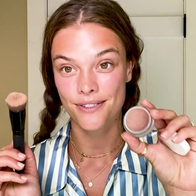 @NinaAgdal takes us through her go-to skin, makeup, and hair routine while sharing all of her #beautysecrets. From the face-sculpting tool she can't live without to her eye-opening makeup tricks, tap the link in our bio to watch her full morning regimen.