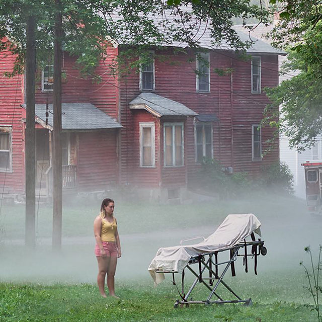 "#GregoryCrewdson: ""Ninety-nine percent of all of us experience photographs through social media. It's an interesting challenge to maintain the idea that a photograph—physical, on a wall—has a prominence and a permanence unlike how we experience almost all of our pictures, today . . . The challenge is to make pictures that mean something."" —Gregory Crewdson  Gregory Crewdson's ""An Eclipse of Moths"" is on view at Gagosian, Beverly Hills, through November 21. In a new piece for ""Vanity Fair,"" the artist speaks with Cate Blanchett about capturing a movie's worth of storytelling in every image. Follow the link in our bio to read the article. __________ #Gagosian @crewdsonstudio @vanityfair Gregory Crewdson, ""Cherry Street,"" 2018-19, digital pigment print, image: 56 1/4 × 94 7/8 inches (142.9 × 241cm), framed: 57 × 96 × 2 inches (144.8 × 243.8 × 5.1 cm) © Gregory Crewdson"