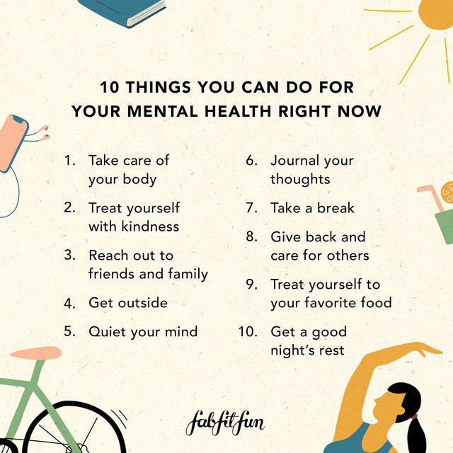 Today is #WorldMentalHealthDay and to honor this important topic, we're sharing 10 things you can do for your mental health *right now* 💭 🌎 Head to the link in our bio to read the full article and if we missed an important tip or trick that you use to calm your mind, please let us know in the comments below!