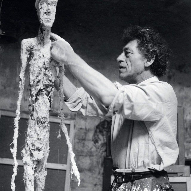 """The object of art is not to reproduce reality, but to create a reality of the same intensity."" ーAlberto Giacometti  Happy birthday to Alberto Giacometti, born on this day, October 10, in Borgonovo, Switzerland.  In drawing, painting, and sculpture, Giacometti's works perceive the grace in form's most minimal, reducing his subjects to the truth of what they embody. Over the course of his lifetime, against the shifting backdrop of two world wars, and closely involved with the poets, writers, and philosophers of his generation, Giacometti's figures evolved from Post-Cubism to Surrealism to postwar realism, opening into themes of light and darkness, destruction, and truth.  In ""L'Homme Qui Marche: Une icône de l'art du XXè siècle,"" currently on view at the Institut Giacometti in Paris, all the life-size models of Giacometti's most famous work, ""The Walking Man,"" are gathered together in the same exhibition for the first time. Follow the link in our bio to learn more. __________ #AlbertoGiacometti #Gagosian @fond"