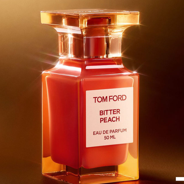 Shiny new fragrance to fall in love with? 😍@tomfordbeauty's new Bitter Peach is a fruity-floral delight you'll want to bite right into. Leave a 🍑 if you're adding it to your basket.