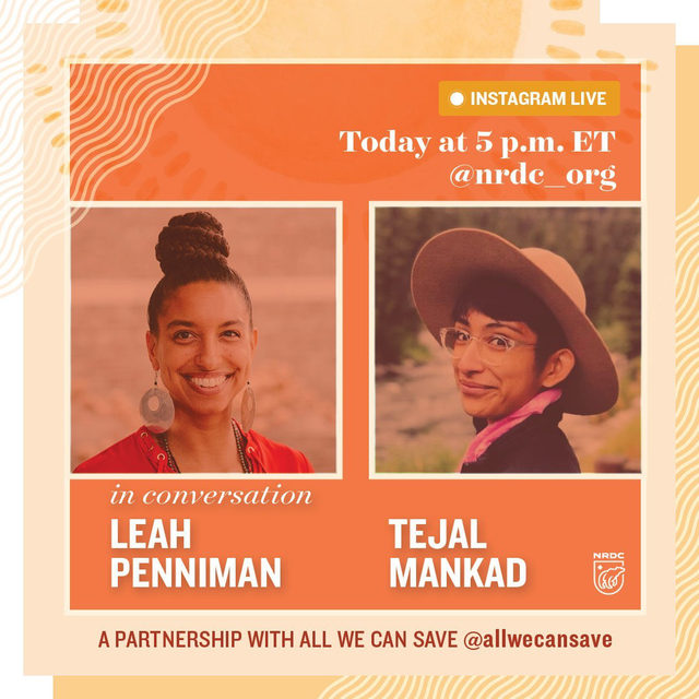 We are BACK for another installment with our friends at @allwecansave for our 3 part Instagram Live reading series! 👏 All We Can Save is an anthology of wisdom from women climate leaders, edited by @AyanaEliza & @DrKWilkinson. 🌍✨  Join us TODAY at 5:00 p.m ET for our second reading conversation between Leah Penniman and Tejal Mankad. 📖Leah Penniman is a Black Kreyol farmer, author, and food justice activist who founded Soul Fire Farm with the mission to end racism in the food system and reclaim our ancestral connection to land.  Drop any questions you have in our comments. ⬇️ See you soon! 📲  #AllWeCanSave #ClimateFeminism #ClimateChange #IntersectionalFeminism #WomensRights #BIPOCLeaders #ClimateCrisis #MutualAid #CommunityBuilding #SoulFireFarm