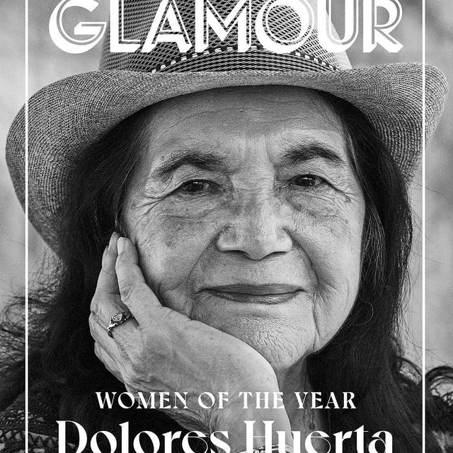 Yes, Dolores can! Dolores Huerta has spent more than 65 of her 90 years on earth pushing for change—for the rights of farmworkers first and foremost, but also women's rights, civil rights, and a more just world for us all. Now she's training the next generation to follow in her footsteps and chart their own course. Read this 90-Year-Old activist on speaking up, raising hell, and doing the work—link in bio. #GlamourWOTY   Writer: @valeriebjarrett Photographer: @nolwencif Production: @cypresspeakproductions