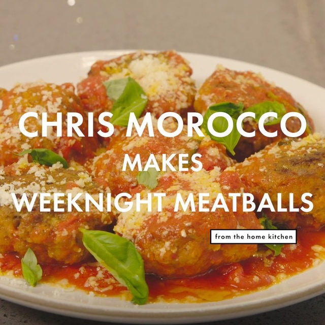 @moroccochris developed these weeknight meatballs for our September 2020 print issue. They're weeknight friendly because they encourage the use of your favorite store-bought sauce, and the hands-off oven-baked method means you can work on something else while they cook. Watch the full video at the link in our bio.