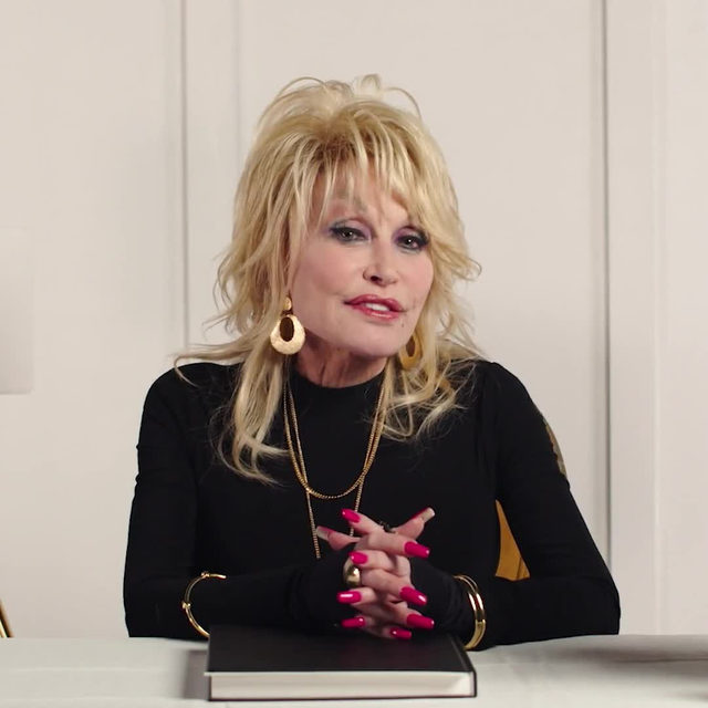 """Over the years, @dollyparton has brought inimitable glamour to both the stage and the big screen, even if she once famously described her style as, """"It costs a lot of money to look this cheap."""" A signature Dolly look features big hair, major shape, and loads of rhinestones. And in a new #LifeInLooks video, she takes a look back at some of her favorite fashion moments that incorporate all of these elements.  Tap the link in our bio to watch the full video.  Director: @maxbartick Producer: @nnishi DP: @nataliemicah Editor: @marcusniehaus1 Associate Producer: @cantorcanshe"""