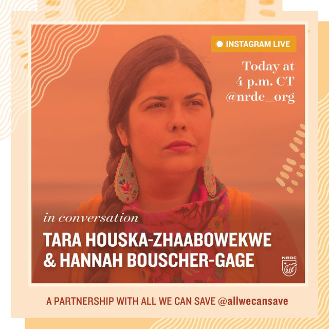 ‼️ UPDATE: This event has been postponed and we will share new details on timing soon. Thank you! ‼️  We are so excited for our 3rd and final Instagram Live conversation in partnership with @allwecansave. 🌿  Join us TODAY at 4:00 p.m. CT for a reading conversation between Tara Houska—Zhaabowekwe and Hannah Bouscher-Gage. 📖 Tara Houska—Zhaabowekwe, JD, is Couchiching First Nation Ojibwe, an attorney, environmental and indigenous rights advocate, and founder of Giniw Collective. She lives in a pipeline resistance camp in Minnesota.   Drop any questions you have in our comments. ⬇️ See you soon! 📲  #AllWeCanSave #ClimateFeminism #ClimateChange #IntersectionalFeminism #WomensRights #BIPOCLeaders #ClimateCrisis #IndigenousSovereignty