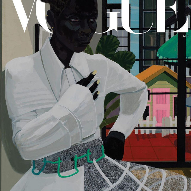 In honor of #KerryJamesMarshall's 65th birthday weekend, revisit the making of the contemporary artist's September cover—from an inside look at his initial sketches, to the meaning behind each intricate detail. Tap the link in our bio for all the details.