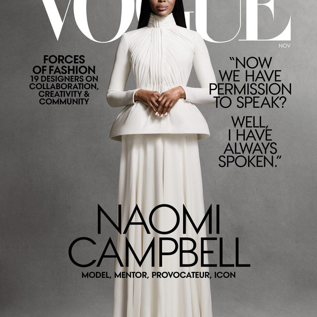 @naomi is our November issue cover star! She opens up to Vogue about half a century of life on her own terms.  Tap the link in our bio to read the full profile. Photographed by @ethanjamesgreen, styled by @mr_carlos_nazario, produced by @apstudioinc, written by @afuahirsch, Vogue, November 2020.