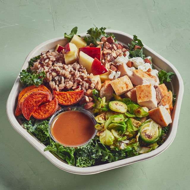 You: Adds roasted Brussels sprouts to Harvest Bowl.  You: 🤯  Us: 😎