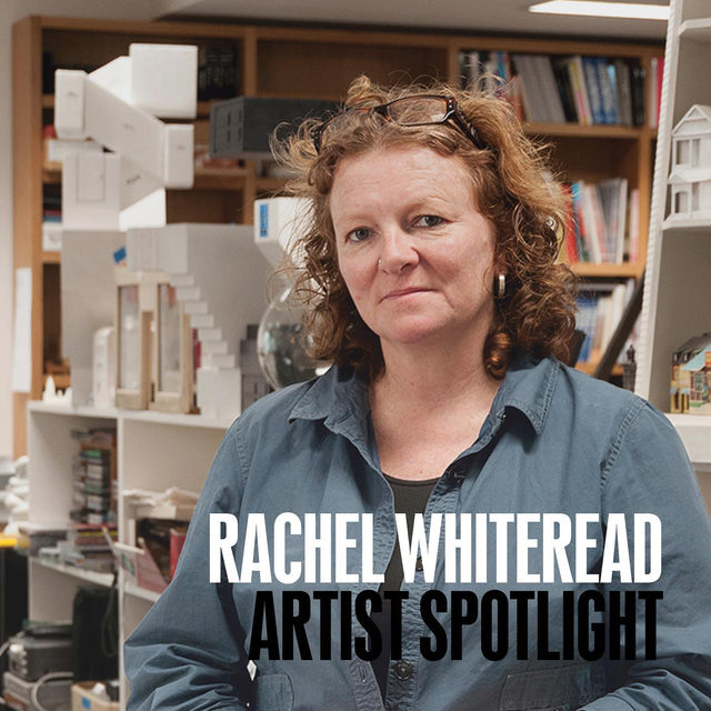 "#GagosianSpotlight: This week, Rachel Whiteread features in Artist Spotlight. In her sculptures and drawings, everyday settings, objects, and surfaces are transformed into ghostly replicas that are eerily familiar. Through casting, she frees her subject matter—from beds, tables, and boxes to water towers and entire houses—from practical use, suggesting a new permanence, imbued with memory.  Whiteread's Artist Spotlight features a recent cast sculpture from a new body of work by the artist. The work will be unveiled on the Gagosian website on Friday, October 23, at 6am EDT. For updates, please contact the gallery at collecting@gagosian.com. Follow the link in our bio to learn more. __________ #RachelWhiteread  #Gagosian @rachelwhitereadofficial Rachel Whiteread. Photo: Anita Corbin, from the series ""First Women UK"""