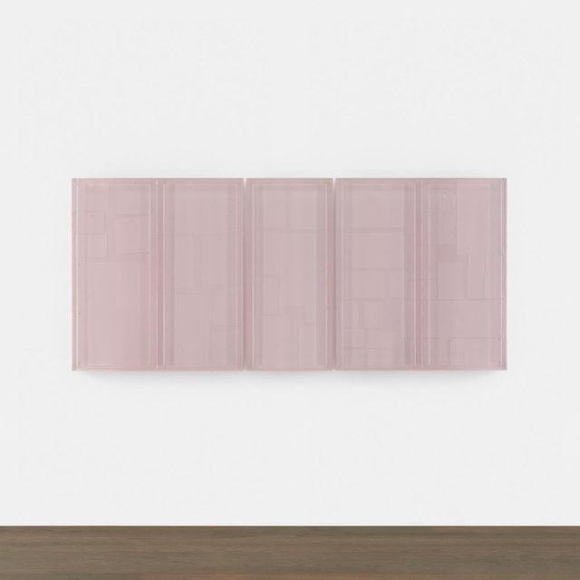 "#GagosianSpotlight: ""If I go to a cathedral I will probably hunt out the small places alongside the nave, the quieter more contemplative spaces where people pause."" —Rachel Whiteread   Gagosian is pleased to present Rachel Whiteread's ""Untitled (Pinboard)"" for $375,000, now available for forty-eight hours only.  Part of a new body of work, Whiteread's ""Untitled (Pinboard)"" is cast from a studio bulletin board that holds images, notes, sketches, and other information. Whiteread has likened this type of visual arrangement to ""looking out of a window."" In sculptures such as this, her use of casting subverts the technique's usual role as a replicative process; the works differ from their originals and bear the haptic traces of human intervention, evoking narratives and memories belonging to the source objects. Follow the link in our bio for more information or to make an inquiry. __________ #RachelWhiteread  #Gagosian @rachelwhitereadofficial Rachel Whiteread, ""Untitled (Pinboard),"" 2019, resin and cement compoun"