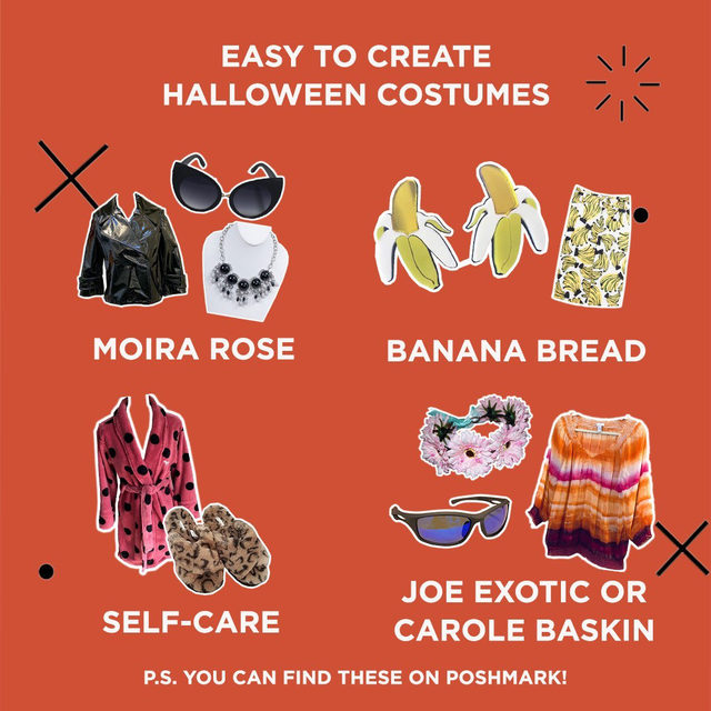 Halloween is just a few days away... 👻 Do you have your Halloween costume ready? We have a few ideas! Tap our link in bio to find 10 costumes you can recreate and find on Poshmark.