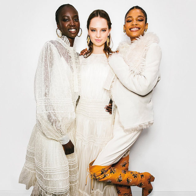 Winter white has always been a fascination with me and is incredibly chic in ethereal silks, organza, cashmere, poplin and shearling. #ToryBurchFW20 #ToryBurch